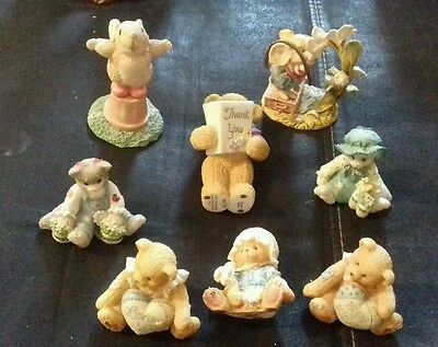 5 Figurines Priscilla Hillman cats bears plus 2 free mice