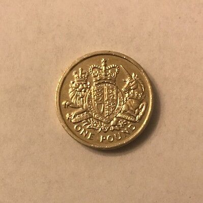 Very Rare The Royal Coat Of Arms £1 Coin 2015 Great Condition Coin Hunt