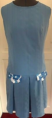 Retro 60's mod dress in blue size 18