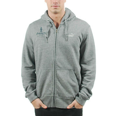 Puma Men's Americas Cup Tr Hooded Sweatshirt Medium Gray Heather 561759 01