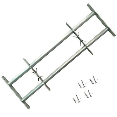 Adjustable Window Security Grilles Bars Shed Office with 2 Crossbars 500-650 mm