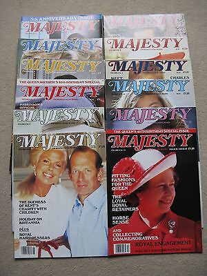 Complete set of Majesty The Monthly Royal Review Volume 6 May 85 to April 86