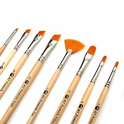 Paint Brush Set, 8 Artist Brushes, Acrylic Oil Watercolor Painting Art Supplies