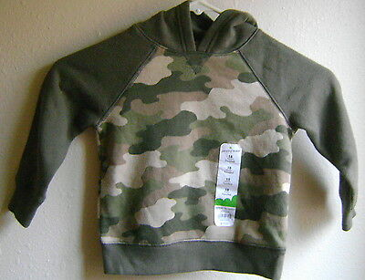 New Jumping Beans Boy's Camo Sweatshirt Size 18 Months Baby Hooded