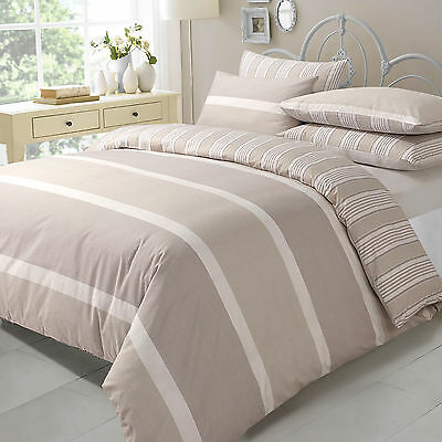 Duvet Quilt Cover with Pillow Cases Bedding Set Size Super King  NATURAL EVE