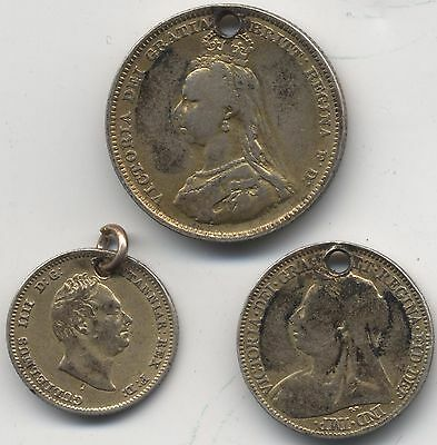 Holed Silver Coins***Collectors***Gold Gilt***