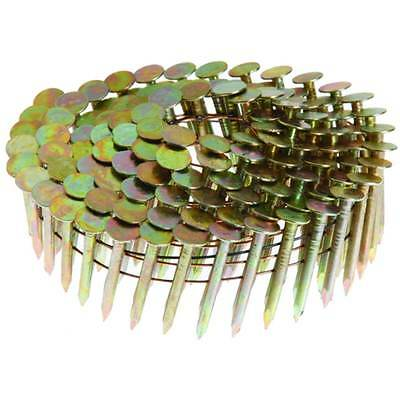 """1-1/2"""" Roofing Nail, 15° Wire Coil, Electrogalvanized, Smooth Shank, 7200 Nails"""