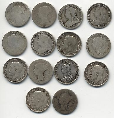 Victoria & George Silver Threepence***Collectors***(T14)