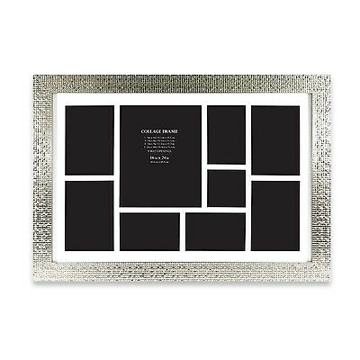 9-Opening Stylish Collage Picture Photo Frame Hanging Silver Wall Art Home Decor
