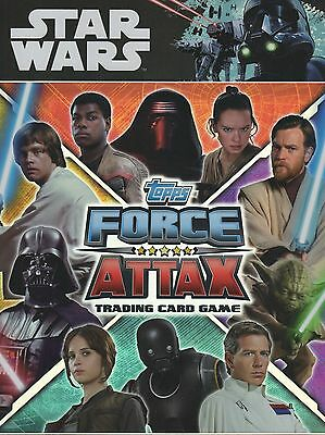 2017 Topps Star Wars Force Attax Universe Full base set of 224 cards