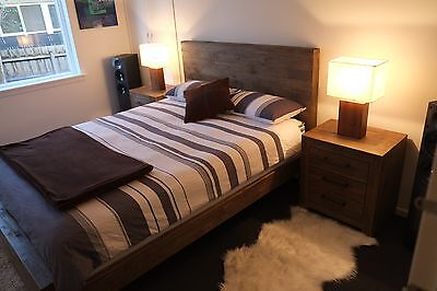 Superb Reclaimed Timber Style 4Pc Bed Suite King / Queen - BRAND NEW