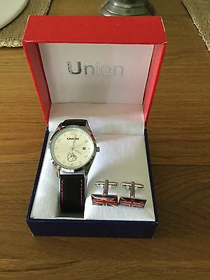 Union Watch And Cufflink Set