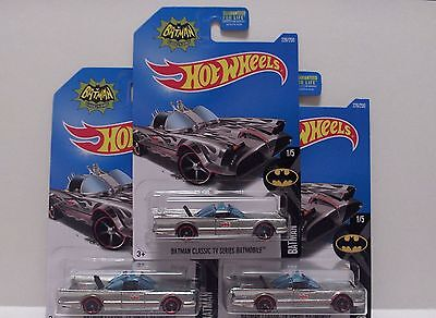 Hot Wheels   2016    BATMAN CLASSIC TV SERIES ZAMAC with GHOST FLAMES  lot of 3