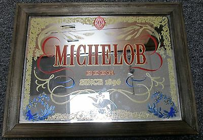 VINTAGE 1970's MICHELOB BEER MIRROR 11 X 14