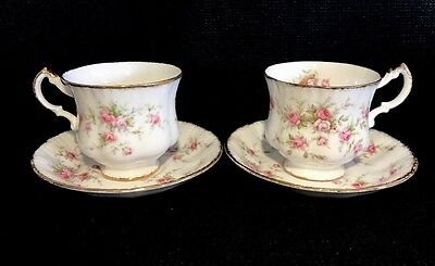 Paragon/Royal Albert Victoriana Rose Set of 2 Tea Cup & Saucer England