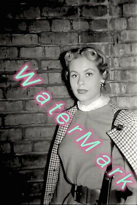 1950s photo Negative ELIZABETH MONTGOMERY out of TV Studio NYC pre BEWITCHED