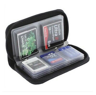 Memory Card Storage Carrying Pouch Case Holder Wallet CF-SD-SDHC-MS-DS AH4