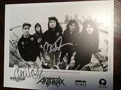 ANTHRAX Promo 8x10 Band Photo 80's 90's Thrash Metal Big 4 Signed Autographed
