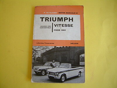 Triumph Vitesse Motor Manual - Olyslager Sunday Times Series, book 63 from 1962