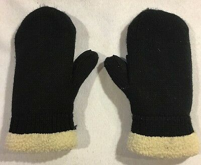 Swany Black Boys Mittens Size Small