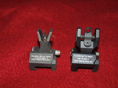 Brand New Elements Troy Replica Sight 1614001-5 For AEG GBB Airsoft Black