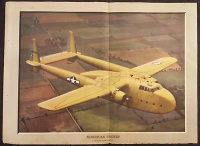 1945 - Fairchild C-82 Packet, Flying Boxcar - Print & Sectional View - Skyways