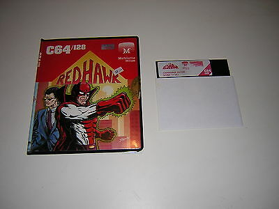 C64 Commodore 64 Red Hawk comic adventure disk rare game spiel geprüft works