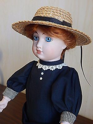 "Artist Reproduction 18"" Antique French Doll, All Bisque Ball-Jointed Body"
