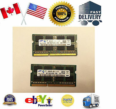 Laptop Memory Ram 8GB 8G Kit 2x 4GB 4G PC3-12800S DDR3 1600 Tested 100% Working