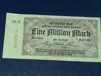 Germany - 1 Million Mark  Banknote 1923-Inflation - Very Fine