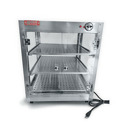 Commercial Food Warmer, HeatMax 20x20x24 Countertop Pizza Pastry Display Case