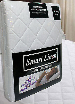 """Extra Deep 12"""" MATTRESS PROTECTOR FITTED MATRESS COVER Non Allergenic All Sizes"""