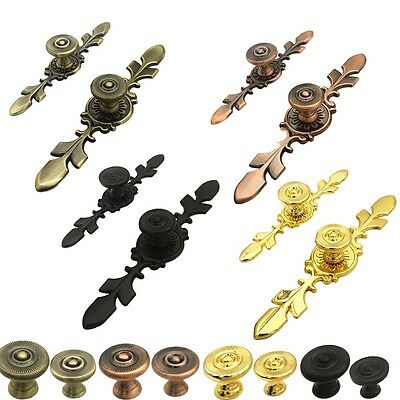 Retro Antique Cabinets Door Drawer Knobs Wardrobe Closet Furniture Pull Handles