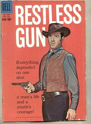 Four Color Comics #1045-1959 vg Restless Gun John Payne Dell Comic