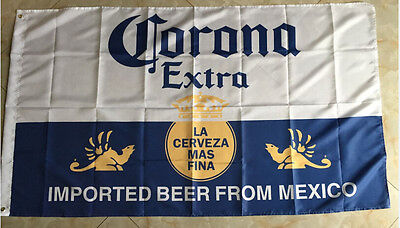 Corona Extra 3x5 Feet Banner Flag imported beer from mexico