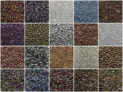 Matubo 8/0 Czech Glass Seed Beads CRYSTAL (00030)  Round Rocailles