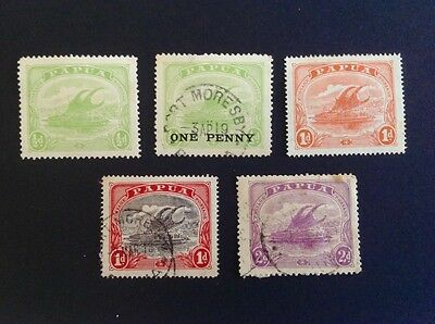Papua mint hinged and used stamp selection