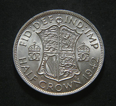 George VI 1942 Half-Crown High UNC