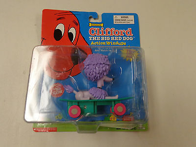 Nip Clifford The Big Red Dog Action Windups  Cleo Purple Puppy Dog Skateboard
