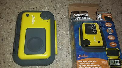 Waterproof Floating Cell Phone/I-Pod Speaker Case, by Good Times, new
