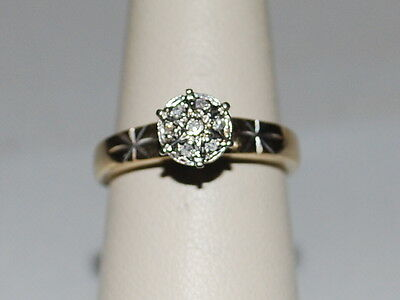 10K Gold ring with small diamonds