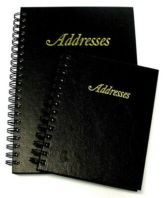 Cumberland Address Book 130 x 190mm Hardcover, Leather Grain 144 Page - Black