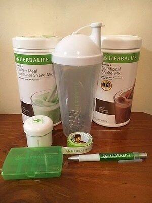 Herbalife Formula 1 x 2 of F1 (And Shaker Kit) Weight Manage Meal Replacement