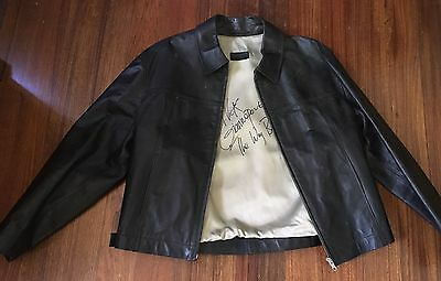 "BISONTE  Leather Jacket Signed Nick Giannopoulos ""The Wog Boy"""