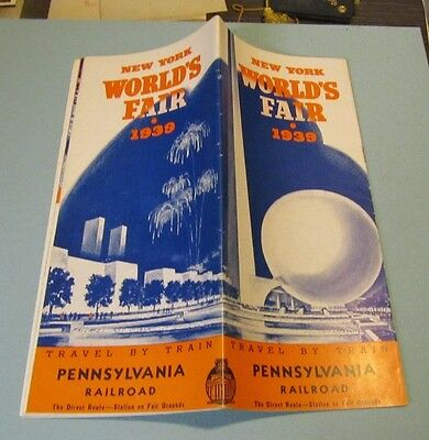 1939 New York World's Fair World of Tomorrow Brochure Pennsylvania Railroad PRR