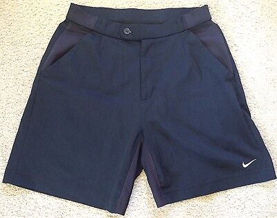 NIKE TENNIS Shorts - Black Polyester with Stretchy Panel - Mens Size S VGC