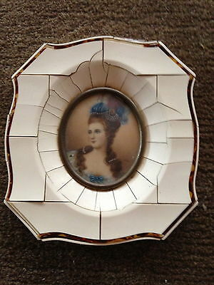 Antique Celluloid  Frame with Lady Print Inside