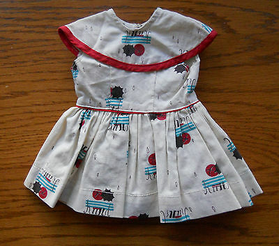 Doll Clothing Terri Lee embroidered tagged Park Bench School Dress 1950s