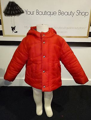 Bebe By Minihaha Red Baby Toddler Hoodie Jacket Jumper Sweater Winter Boy Girl
