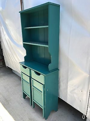 Vintage Style Solid Timber Kitchen Hutch Cabinet With Bench Top, Dining Room